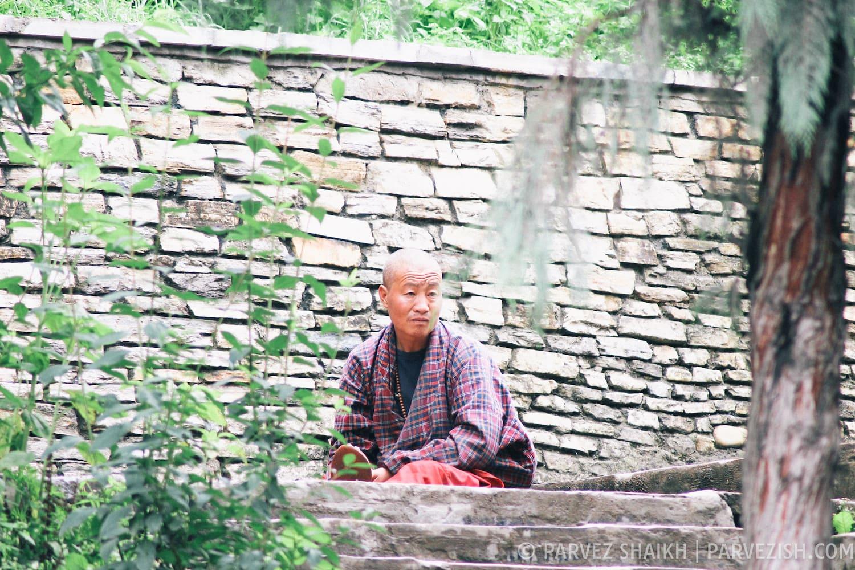 A Buddhist Monk in Thimpu, Bhutan