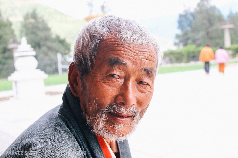 An Elderly Man in Bhutan